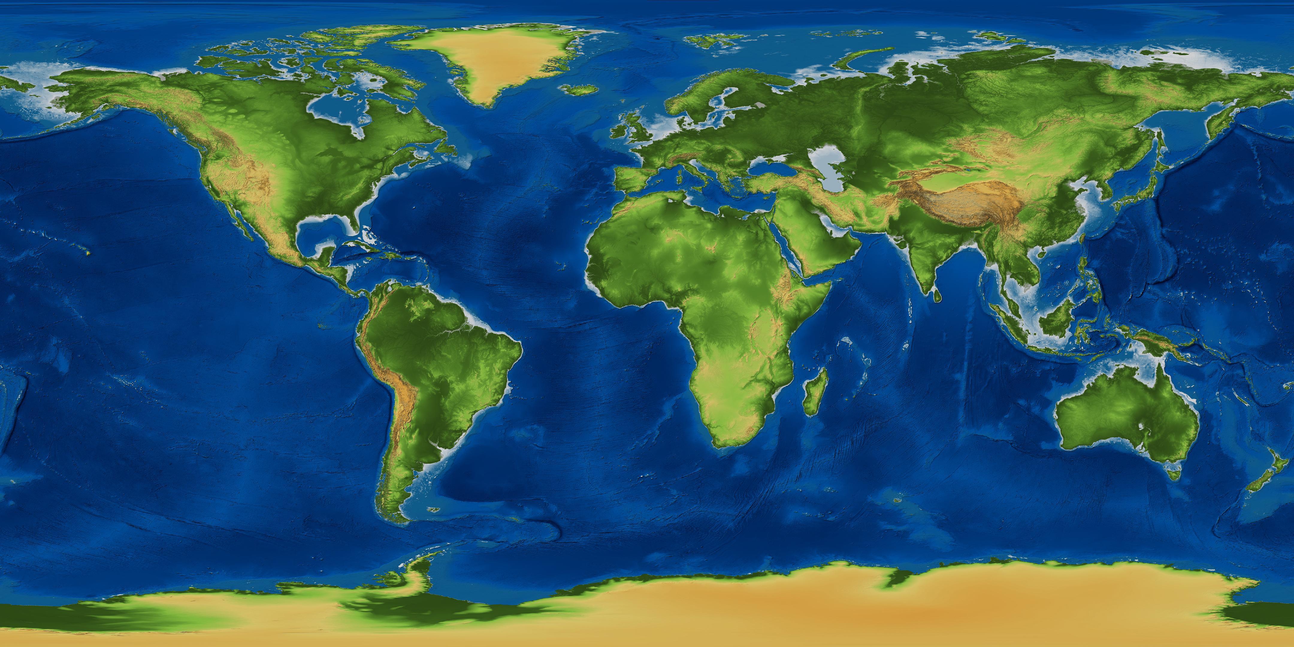 World Terrain Map My Blog - Global terrain map